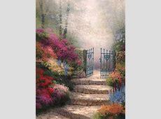 The Garden of Promise | The Thomas Kinkade Company House With Garden Clipart