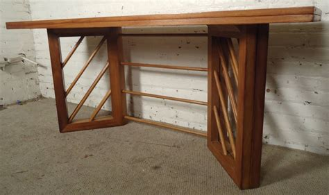 folding console dining table mid century modern folding console or dining table at 1stdibs