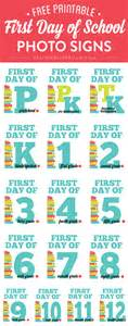 Day Of School Sign Template by Day Of School Free Chalkboard Printables