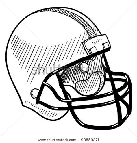 doodle football simple football helmet drawing clipart panda free
