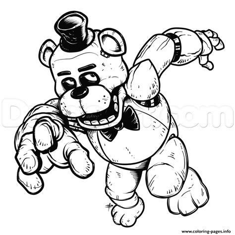 freddy five nights at freddys fnaf coloring pages printable