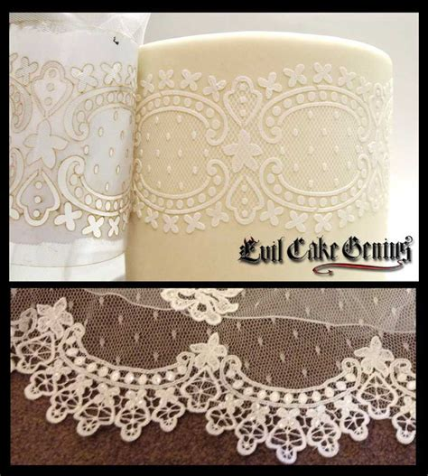 lace templates for cakes then one of our acrylic stencils on top see photo