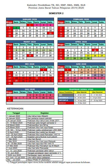 kalender pendidikan  provinsi jawa barat pendidikan kewarganegaraan