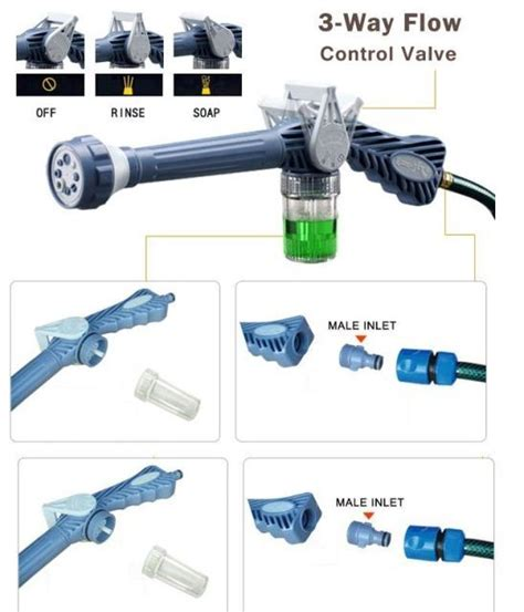 Ez Jet Water Canon Spary Semprotan Pompa Air Steam Motor ez jet water cannon pressure water jet gun 8 adjustable