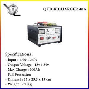 Voz Charger Aki 40 A jual battery charger voz 40 a harga murah jakarta oleh