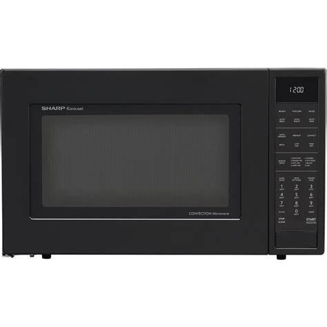 Microwave Sharp R 299in S sharp 1 5 cu ft countertop convection microwave in black