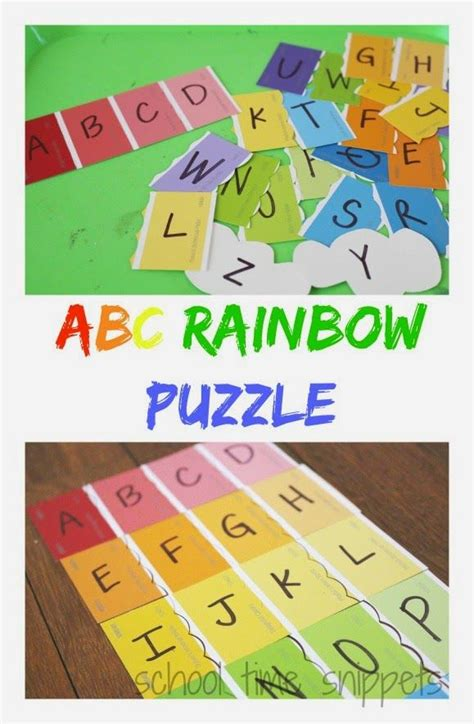 rainbow puzzle school time snippets abc rainbow puzzle busy bag pinned