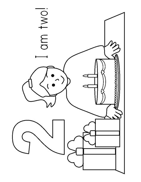 Coloring Page 2 Year by Free Coloring Pages Of 2 Year