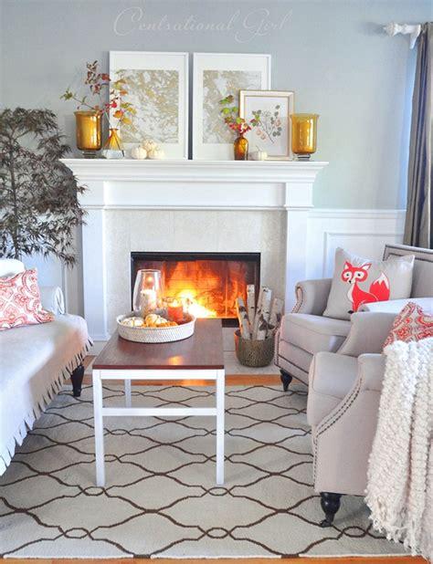 living room mantel autumn mantels link centsational