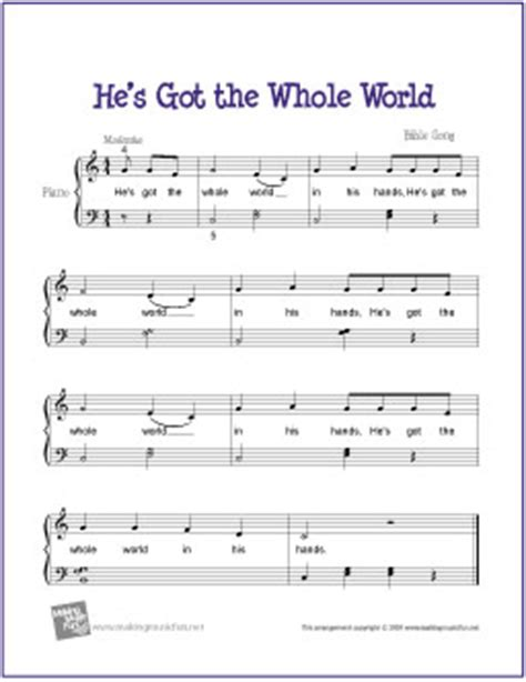 printable piano sheet music no download free he s got the whole world free easy piano sheet music