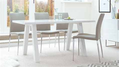 White Dining Tables Uk Modern Zen 6 Seater White Gloss And Oak Dining Table Uk