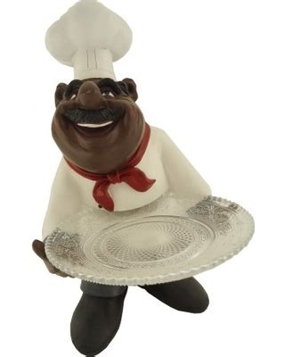 hot sale african american fat chef kitchen figure statue