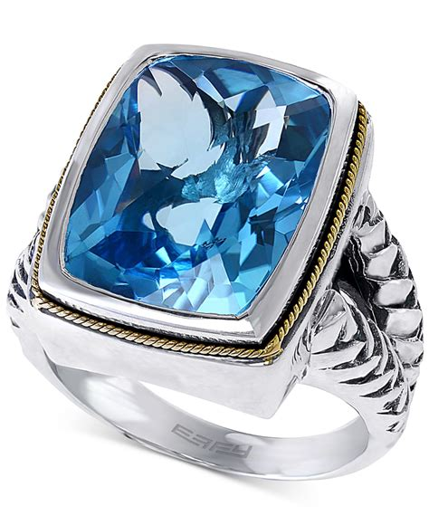 Blue Sapphire 12 3 Ct effy collection effy blue topaz ring 12 1 3 ct t w in