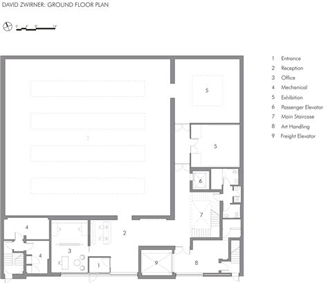 gallery floor plan david zwirner gallery selldorf architects archdaily