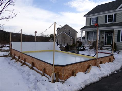 how to make a backyard skating rink backyard ice rink boards outdoor furniture design and ideas