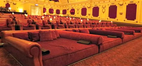 bed cinemas movie theatre comes equipped with beds and cashmere blankets