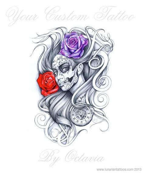 day of the dead tattoo design day of the dead custom unique