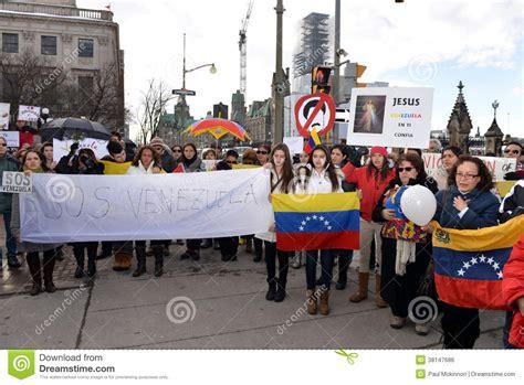 imagenes sos venezuela protesta el sos venezuela en ottawa foto editorial