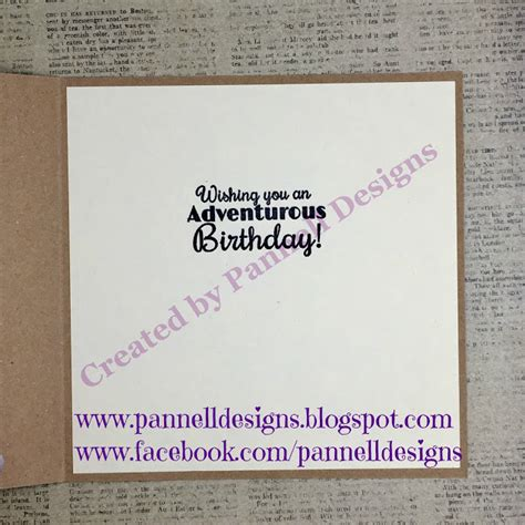 Crafting Recipe For Paper - pannell designs paper crafting birthday card