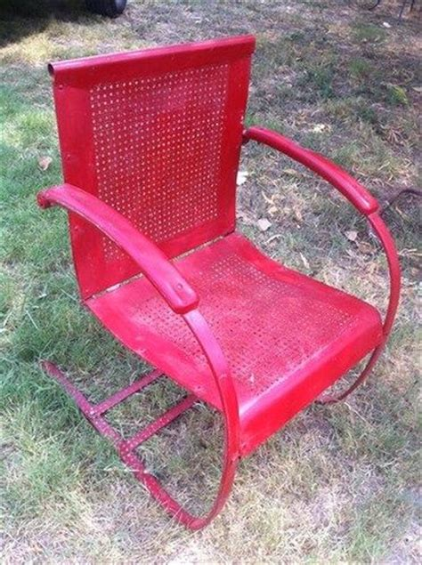 Patio Bouncy Chairs Vintage Retro Mid Century Iron Metal Patio Lawn Garden