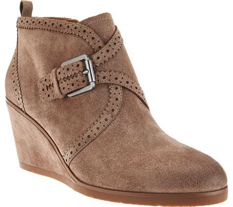 franco sarto suede monk wedge boots arielle page