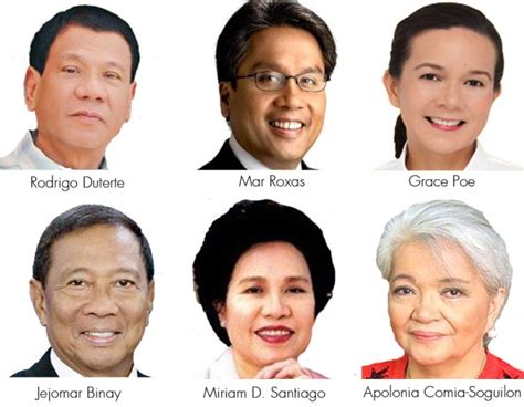 presidential election candidates list philippine 2016 presidential elections page 3