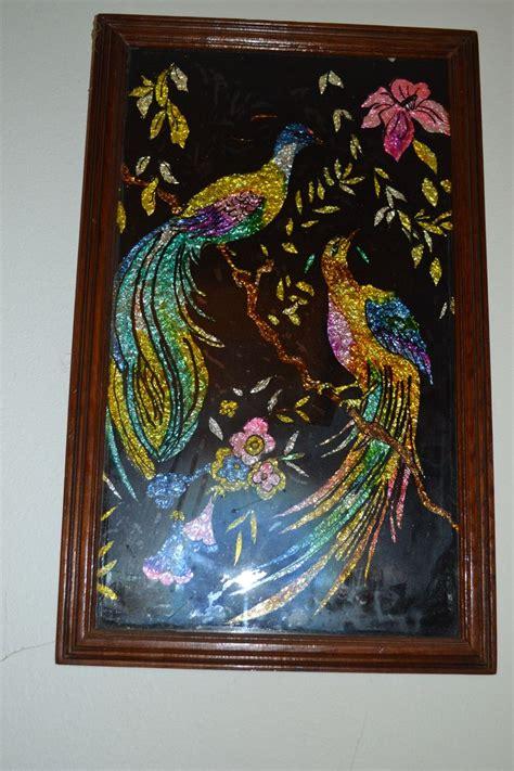Painted Vases Ideas 17 Best Images About Vintage Foil Reverse Painting