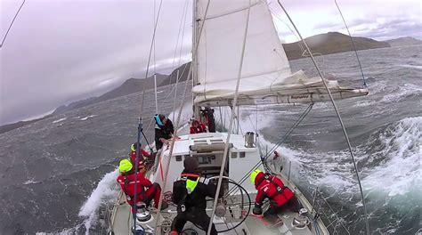 catamaran storm video skip novak s storm sailing techniques part 3 storm sails
