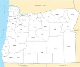 oregon map with counties a large detailed oregon state county map