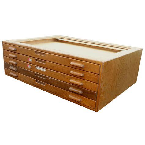 wooden flat file cabinet 1 45 quot wx34 quot d vintage architectural flat file cabinet ebay