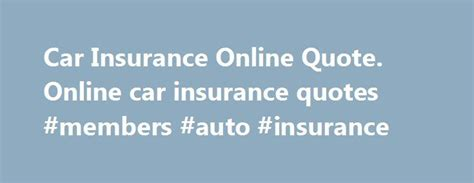 Motor Vehicle Insurance Quotes by Best 25 Car Insurance Ideas On The