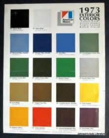 paint color sles amc 1973 exterior paint colors sales brochure w gremlin