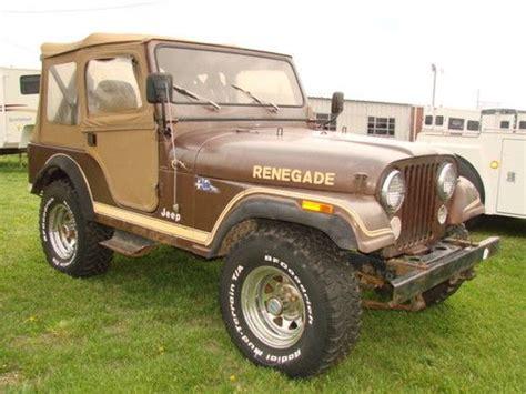 tan jeep renegade buy new 1983 jeep cj5 renegade 4x4 in flintville