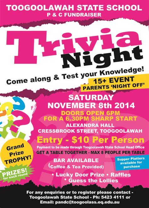 themes for a quiz night trivia night poster pictures to pin on pinterest trivia