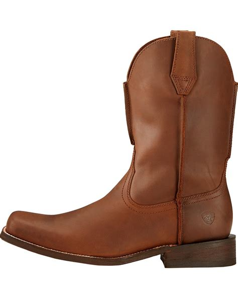 leather sole boots ariat s rambler leather sole cowboy boot square toe