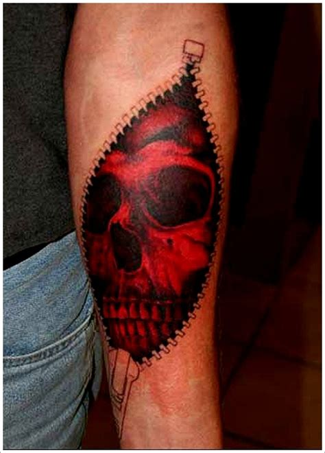 rip skin tattoo on my forearm 3 torn skin forearm on