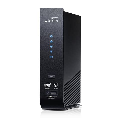 arris surfboard sbg ac cable modem  wi fi router  mcafee   home depot