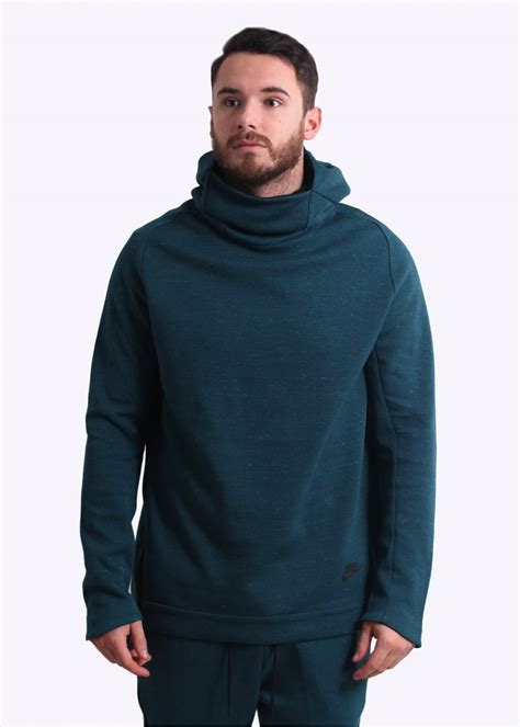 Hoodie Sweater Asics Leo Clothing nike apparel tech funnel neck hoodie midnight turquoise sweatshirts from triads uk
