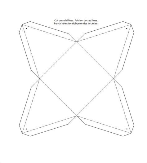 Pattern For Triangle Box | triangle box template 15 free sle exle format