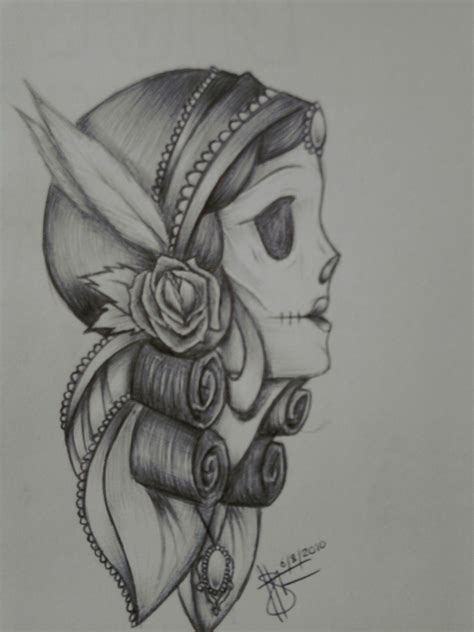 gypsy skull tattoo designs skull design by neverfuzzy on deviantart