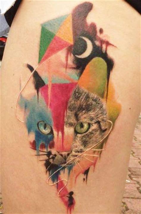 tattoo cat color watercolor cat tattoo tattooimages biz