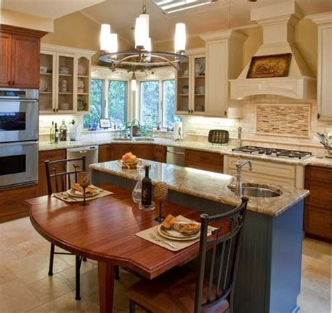 Kitchen Islands With Tables Attached Island W Attached Kitchen Table My New Kitchen Pinterest