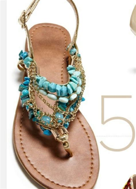 beaded sandal turquoise and gold beaded sandal accessorize