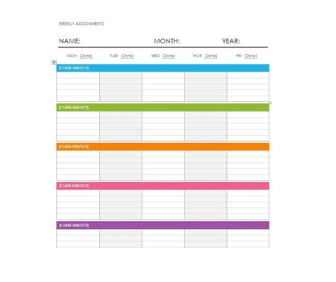 weekly calendar with time slots template 2018 calendar template