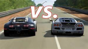Bugatti Veyron Vs Ssc Ultimate Aero Forza 4 Ssc Ultimate Aero Vs Bugatti Veyron And Veyron