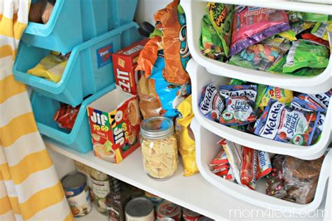 organize cabinets organize snack cabinets do your no pantry no problem food storage ideas mom 4 real