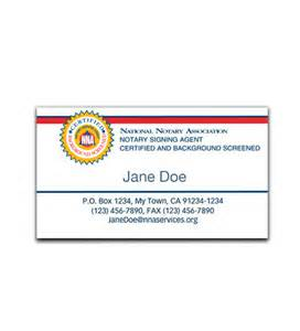 notary business cards signing business cards nna