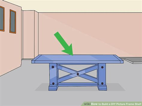 picture ledge step by step and pictures on 3 ways to build a diy picture frame shelf wikihow