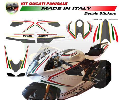 Ducati 1199 Sticker Kit by Vulturbike Ducati Panigale 899 1199 White Tricolor Sticker Kit
