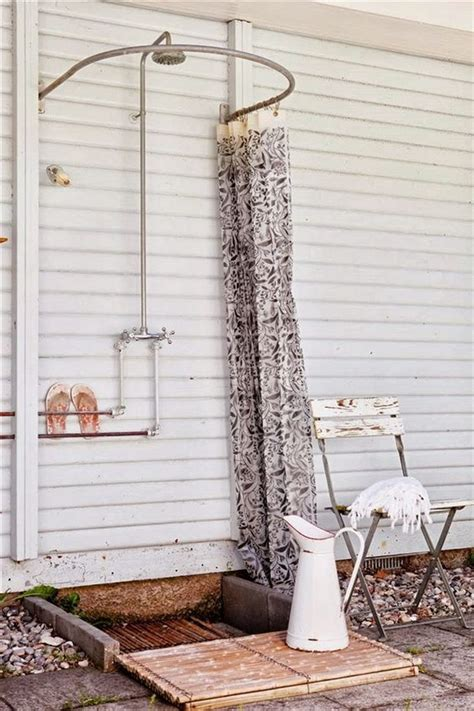 outdoor shower curtains great outdoor shower ideas for refreshing summer time hative